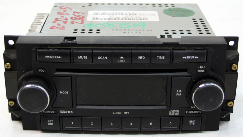 Dodge Ram 2006-2009 2500 Truck Factory Stereo 6 Disc Changer MP3 CD Player OEM Radio RAQ