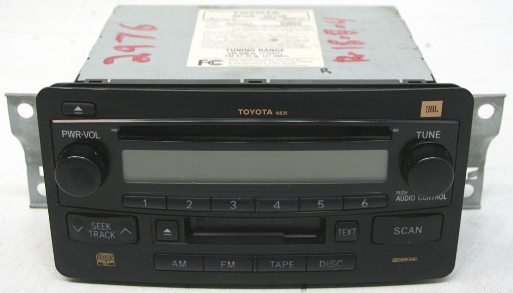 Toyota Sequoia 2003-2004 Factory Stereo Premium Sound JBL Tape & CD Player OEM Radio