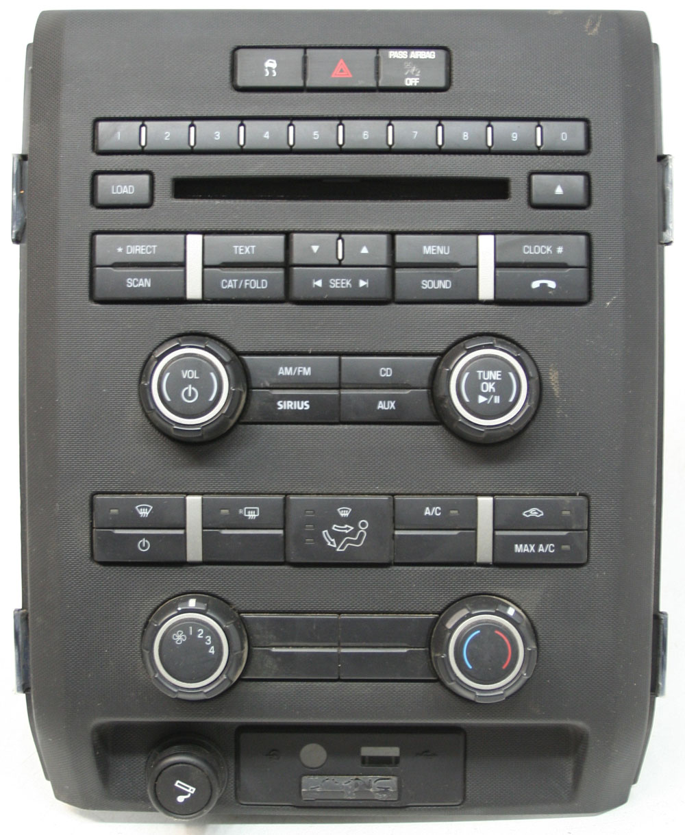 Ford F-150 Truck 2010 Factory Stereo Single Disc MP3 CD Player OEM Radio w/ Climate Controls