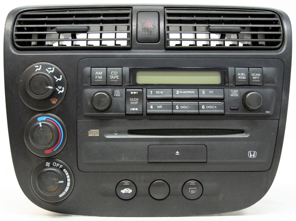 Honda Civic 2002-2005 Factory Stereo AM/FM & Single Disc CD Player OEM Radio 1BC0