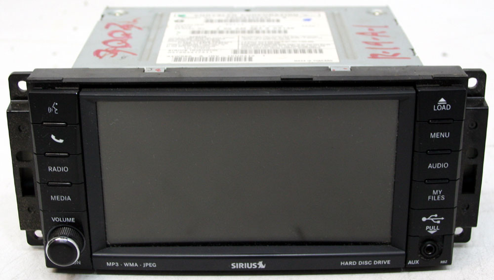 Dodge Avenger 2011-2013 Factory Stereo MyGig  HDD Display Screen Sirius Ready CD Player Radio