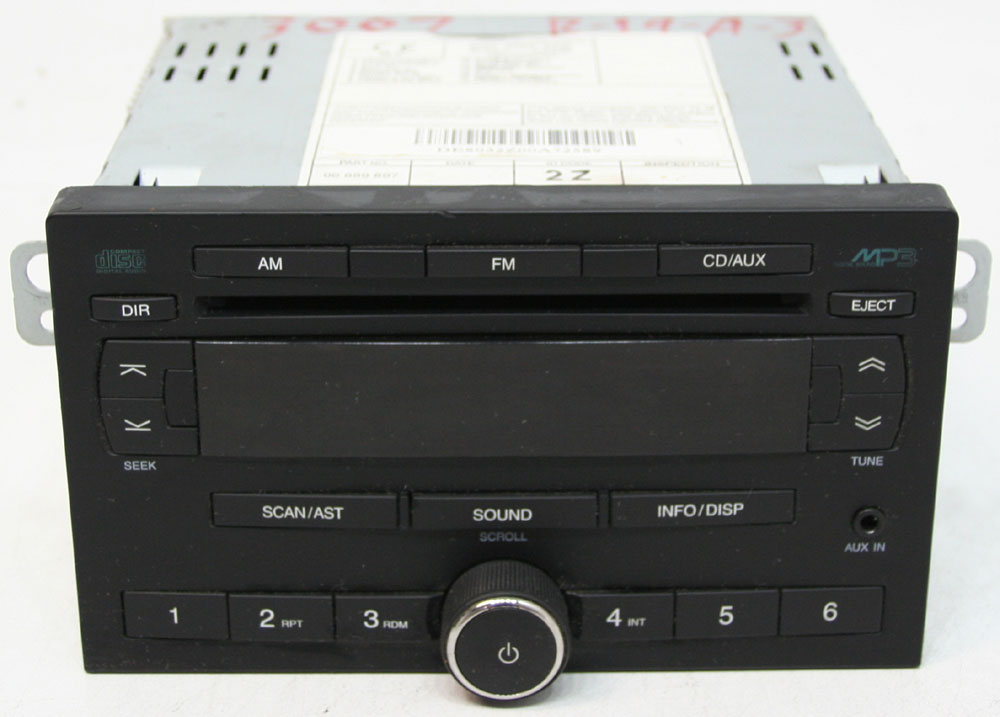Chevy Aveo 2008 Factory Stereo Single Disc Mp3 Cd Player Aux Input