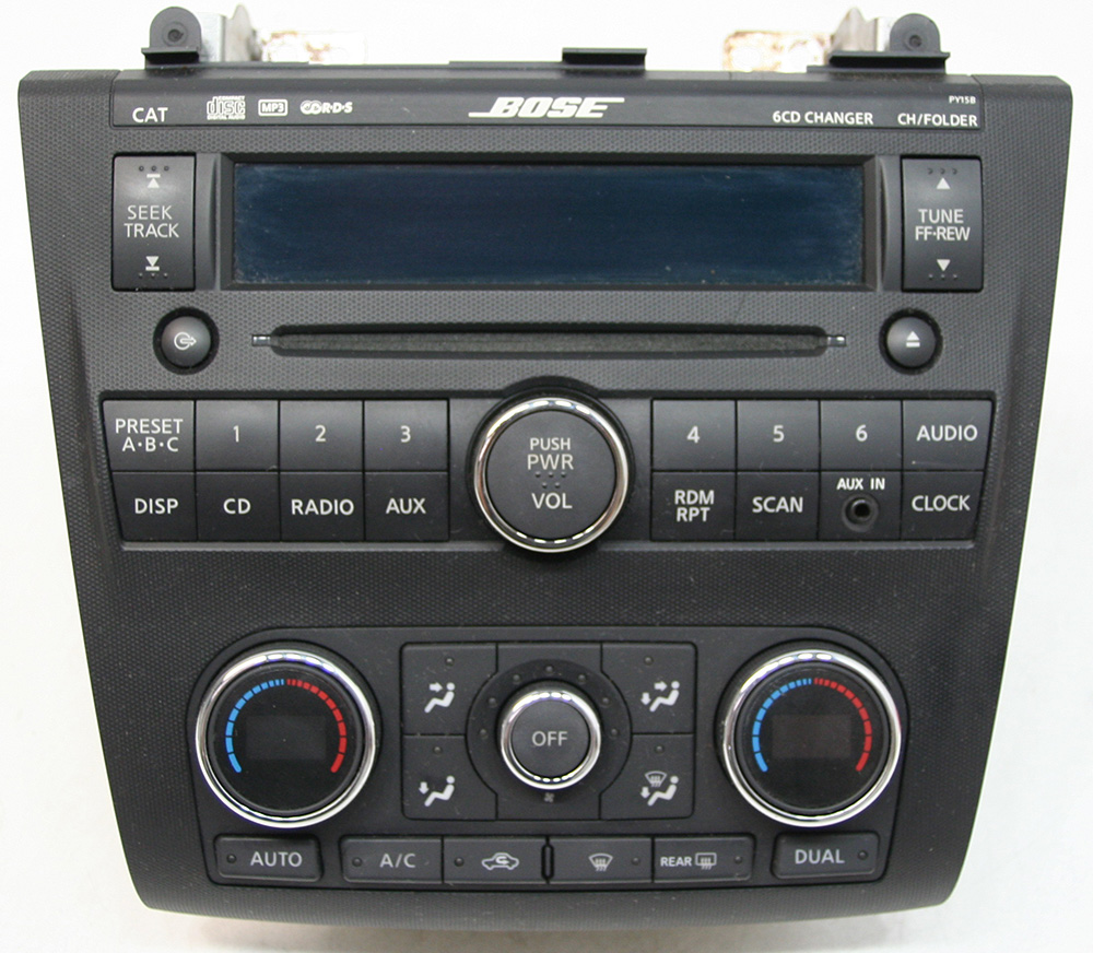 nissan altima 2007 2009 factory stereo bose premium sound. Black Bedroom Furniture Sets. Home Design Ideas