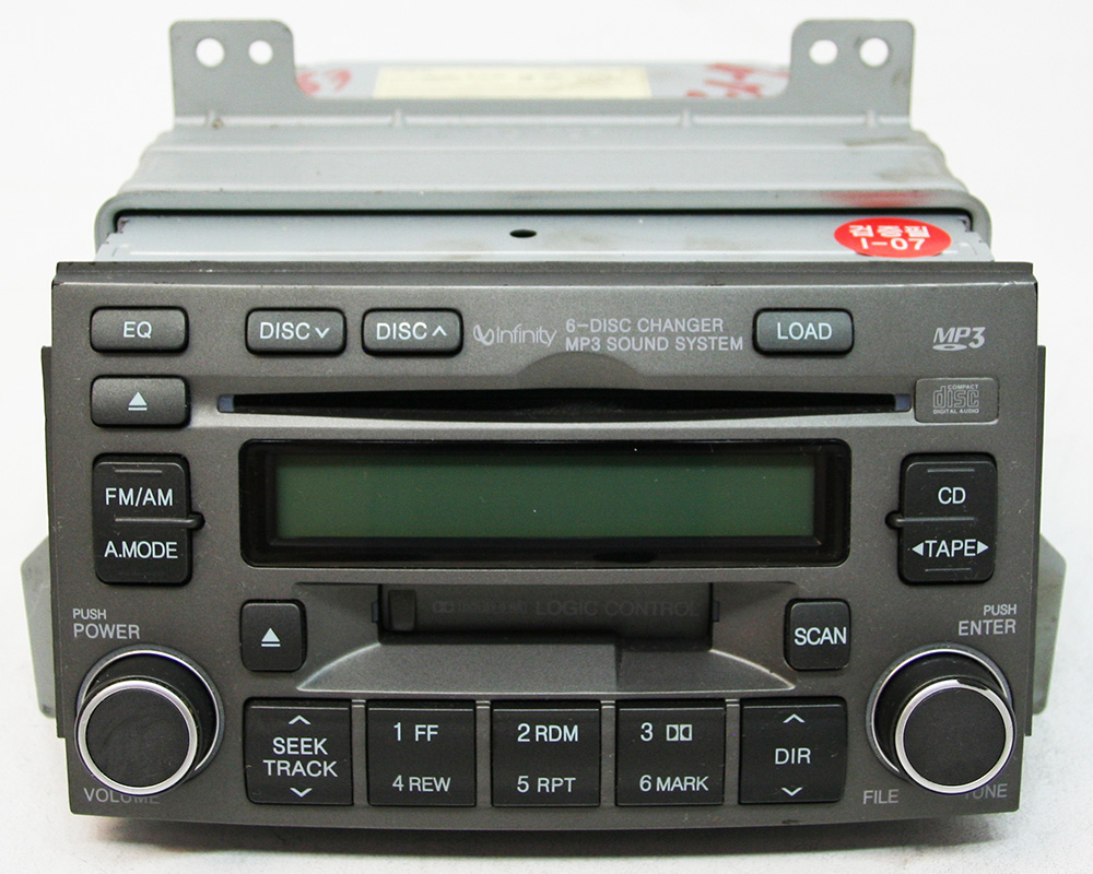 Factory Radio R 3083 detailed image 1 hyundai azera 2006 2008 factory stereo mp3 6 disc changer cd 2003 hyundai santa fe monsoon stereo wiring diagram at n-0.co