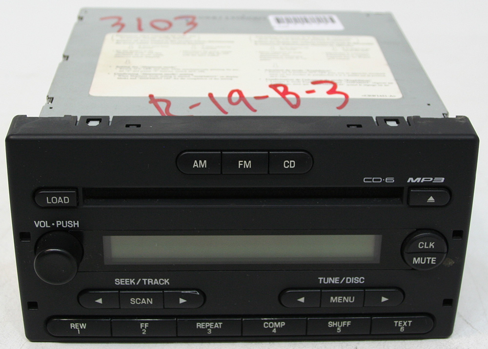 Ford Ranger 2006-2007 Factory Stereo 6 Disc Changer MP3 CD Player OEM Radio