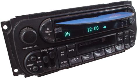 Factory Stereo R 1041 10 detailed image 1 2002 2005 chrysler pt cruiser factory am fm radio cassette cd  at edmiracle.co
