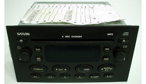 2004 Saturn ION Factory AM FM Radio 6 Disc CD MP3 Player