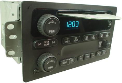 2005 2009 Chevrolet Trailblazer Factory Am Fm Radio Cd Player R 1304 20