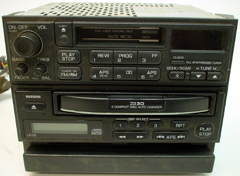 1998 1999 Nissan Maxima Factory Radio 3 Disc Cd Player Changer R 1327
