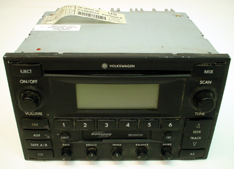 2004-2005 Volkswagen Jetta Factory AM/FM Radio Monsoon CD ...