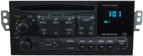 gmc sonoma factory  fm radio tape cd player