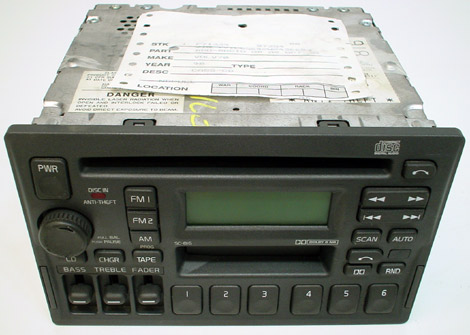 Factory Stereo R Detailed Image on 1996 Volvo 850 Problems