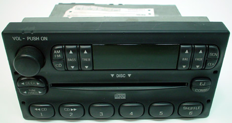 2001 Mazda B-2500 Factory AM/FM Radio CD Player