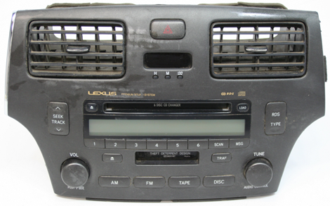 Factory Stereo R 1955 detailed image 1 2002 2003 lexus es300 factory 6 disc tape cd player radio r 1955 2016 Lexus Mark Levinson at readyjetset.co