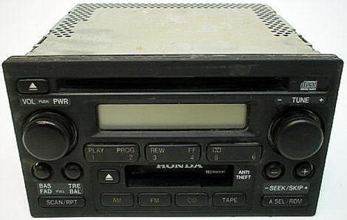 2002-2004 Honda Cr-v Factory Am  Fm Tape Cd Player Radio