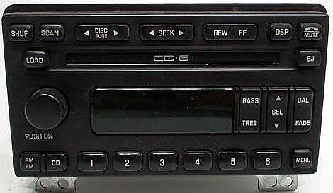 2003-2004 Mercury Mountaineer Factory 6 Disc CD Player Radio