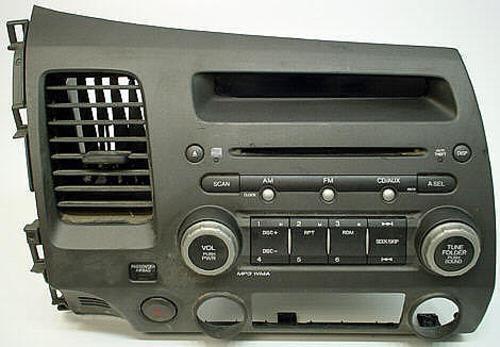 2006 2009 honda civic factory stereo mp3 cd player radio. Black Bedroom Furniture Sets. Home Design Ideas