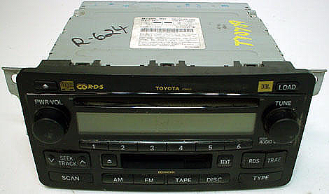 Factory Stereo R 2022 1 detailed image 1 2004 2006 toyota tundra factory jbl 6 disc changer cd tape player  at soozxer.org