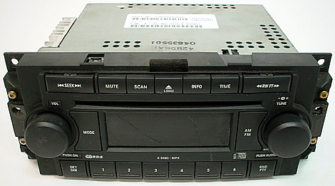 Factory Stereo R 2133 5 detailed image 1 2005 2007 dodge dakota factory am fm 6 disc changer cd radio r 2005 dodge dakota stereo wiring harness at gsmportal.co