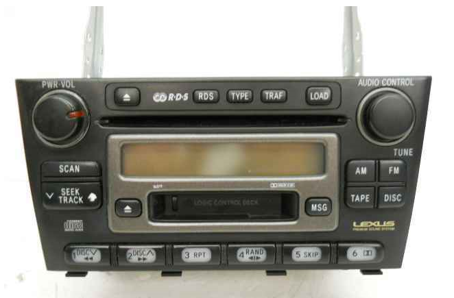 Lexus is factory disc changer tape cd radio