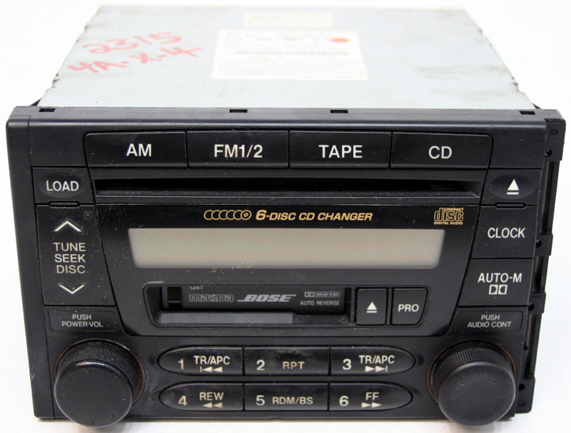 2000 Mazda 626 Factory Stereo Am  Fm Bose Tape 6 Disc Cd