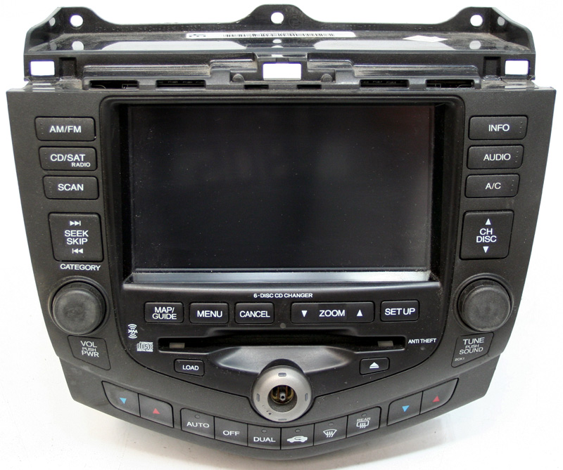2004 2005 honda accord factory stereo 6 disc cd changer