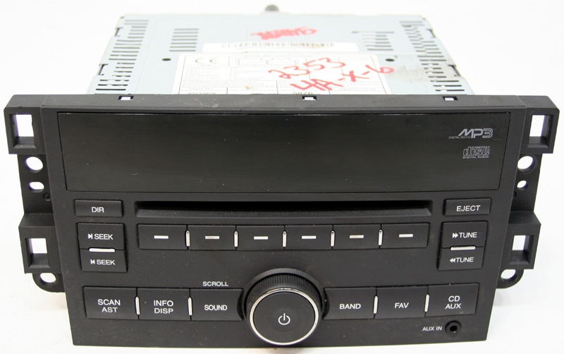 20072011 Chevy Aveo Factory Stereo Mp3 Cd Player With Aux Input R Rhhifisoundconnection: 2007 Chevrolet Aveo Factory Radio Specs At Gmaili.net