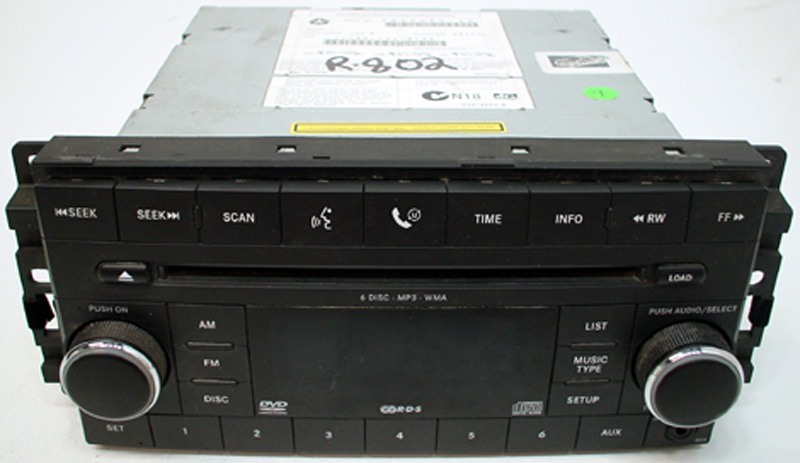 2008 Dodge Durango Factory Stereo 6 Disc Changer CD DVD Player OEM on