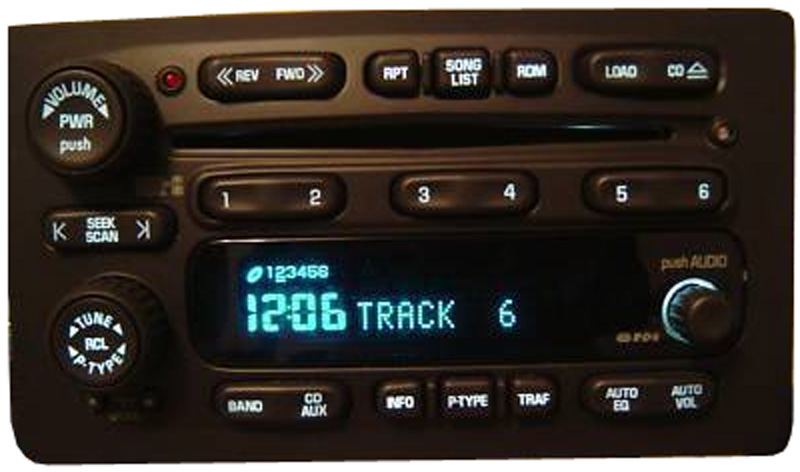 Factory Stereo R 2383 11 detailed image 1 2004 2005 buick rainier factory stereo 6 disc changer cd player,2004 Buick Rainier Stereo Wiring
