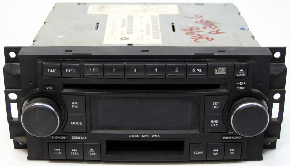 2006 2007 Dodge Charger Factory Stereo Tape 6 Disc Changer