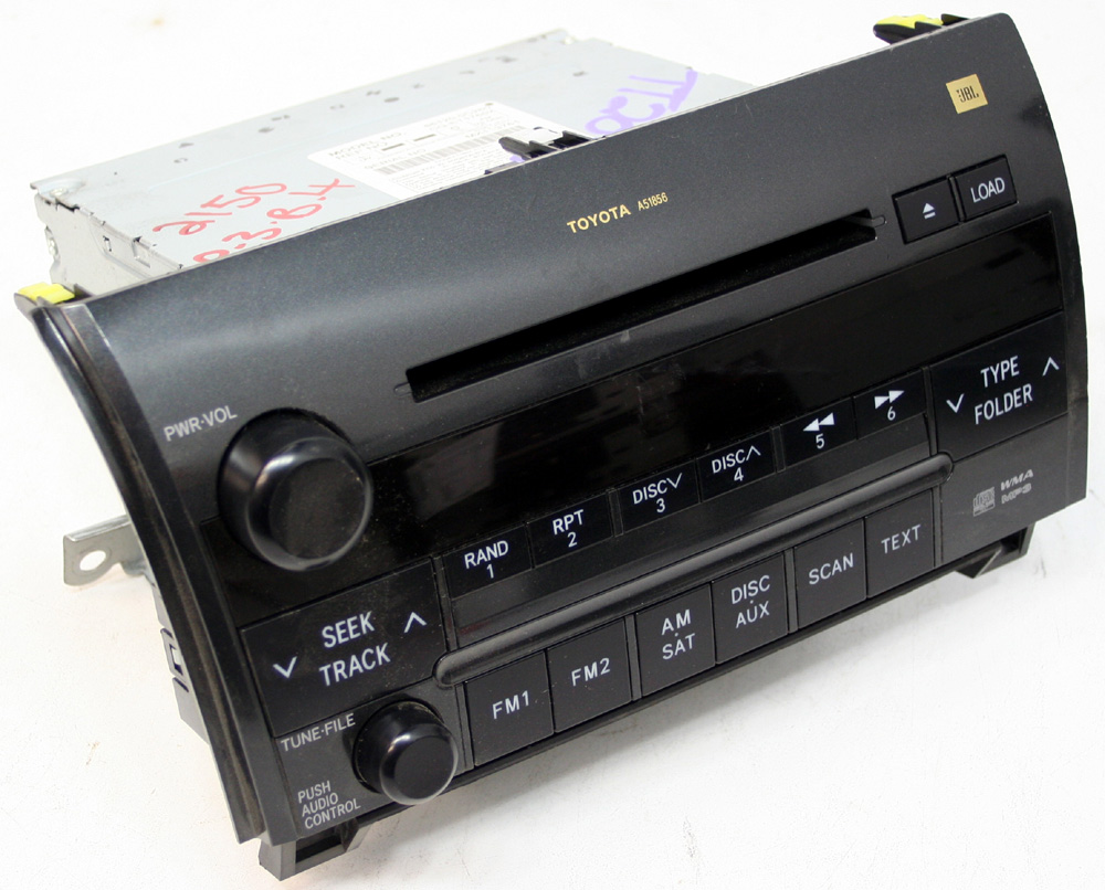 2008 2009 Toyota Sequoia Factory JBL 6 Disc Changer CD Player OEM Radio