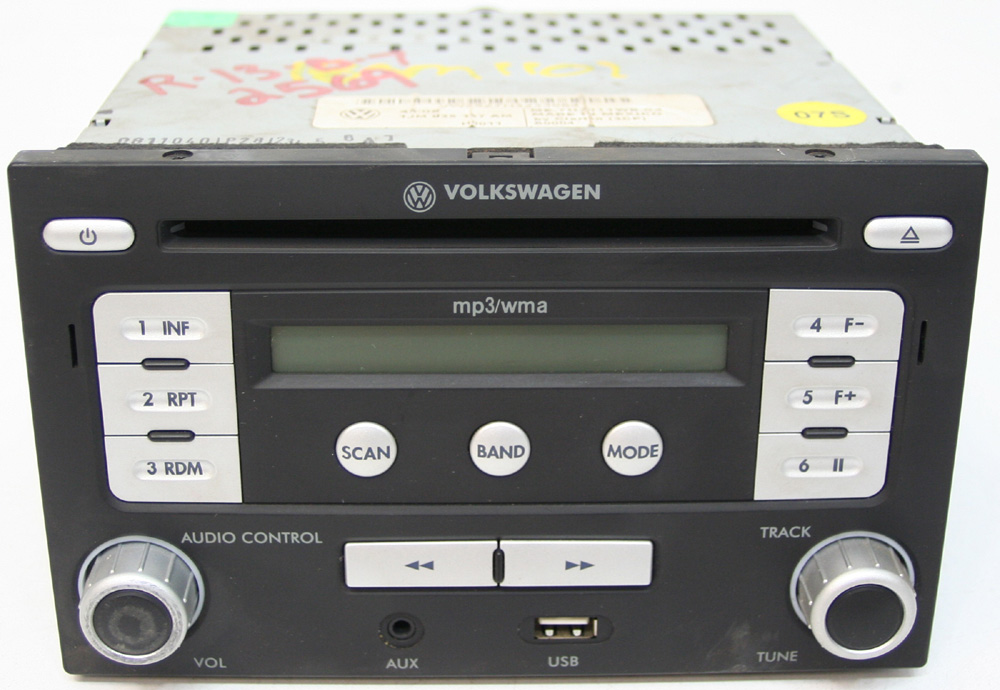 volkswagen jetta factory stereo usb mp aux input cd player radio