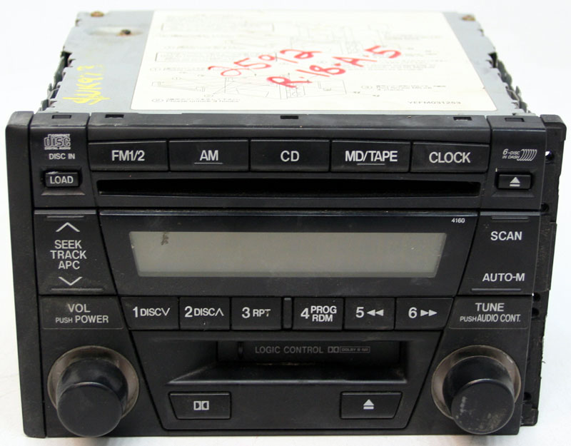 20022004 Mazda Tribute Factory Stereo Cassette 6 Disc Changer Cd Player Oem Radio: 2004 Mazda Tribute Oem Radio Wiring Harness At Submiturlfor.com