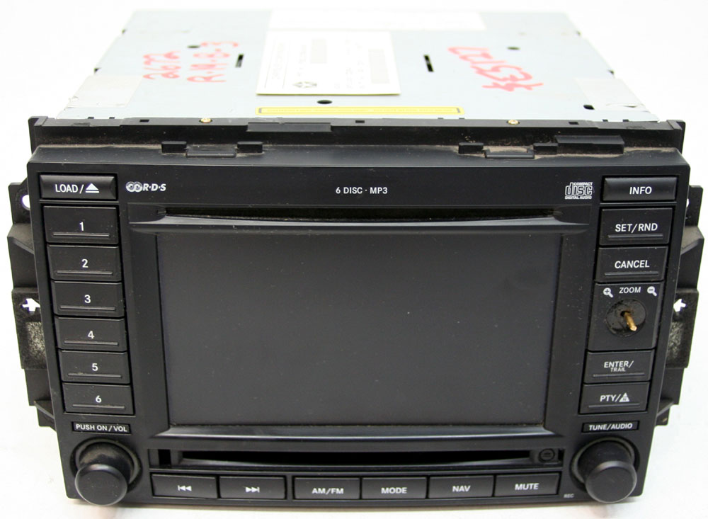 Factory Stereo R 2672 5 detailed image 1 2006 2007 dodge charger factory nav navigation 6 disc changer mp3 Dodge Factory Radio Wiring Diagram at edmiracle.co