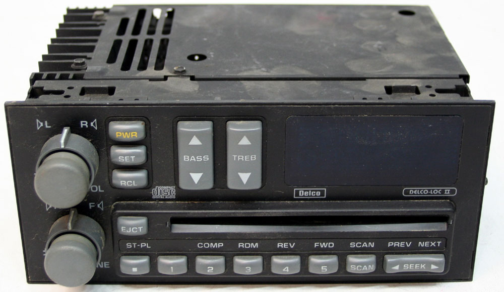 1992-1993 gmc sonoma truck factory stereo am/fm cd player oem, Wiring diagram