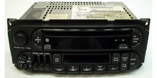 2001-2002 Dodge Caravan Factory Am  Fm Radio Stereo Cassette Cd Player
