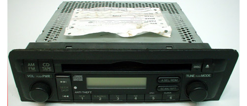 2001 2003 honda civic factory am fm radio cd player r 976. Black Bedroom Furniture Sets. Home Design Ideas