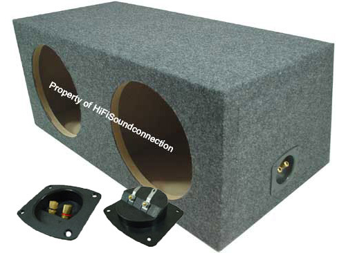 "Car Audio Dual 10"" Sealed Subwoofer Rear Angle Sub Box Enclosure 3/4"" MDF Wood"