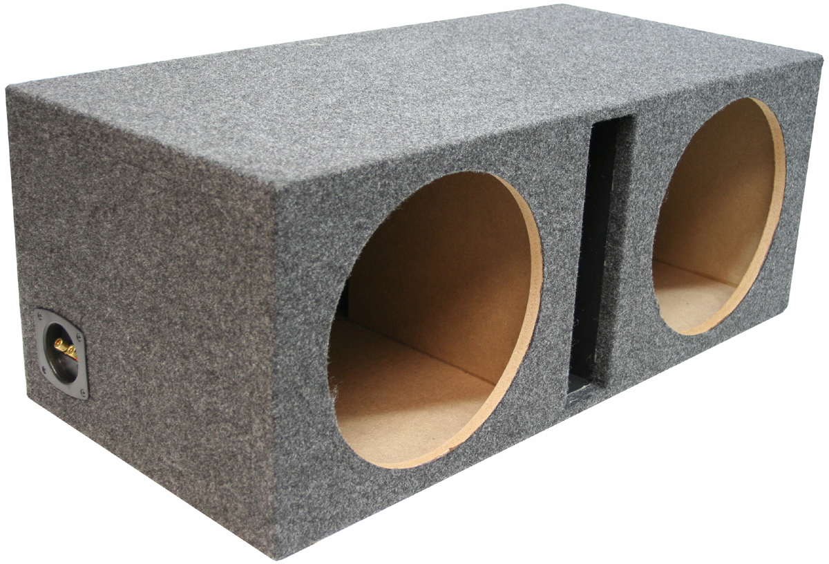 """Dual 15/"""" High Quality Sealed Rearfire Subwoofer Enclosure Stereo Bass Sub Boxes"""
