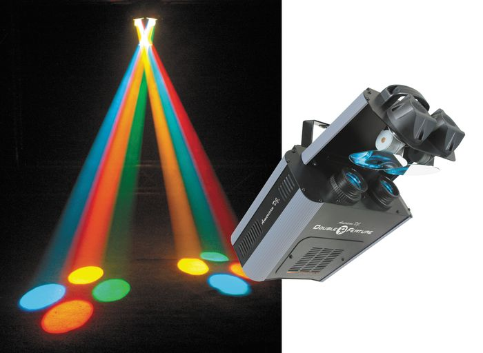 American dj double feature club dj dmx dual mirror scanner for Double mirror effect