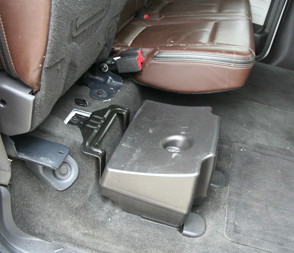 "Ford F-150 Crew Cab Truck 2010 Factory Sony 8"" Powered 700 Watt Sub  Enclosure Under Seat Box"