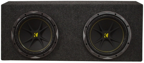 "Dual Mustang Sub Box W/ Kicker 12"" Inch Comp 12 Subwoofers"