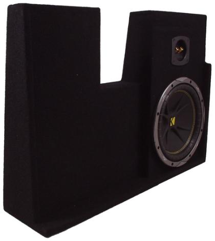 Ford Extended & Crew Single Kicker C10 Subwoofer Enclosure 04-08 F-Series