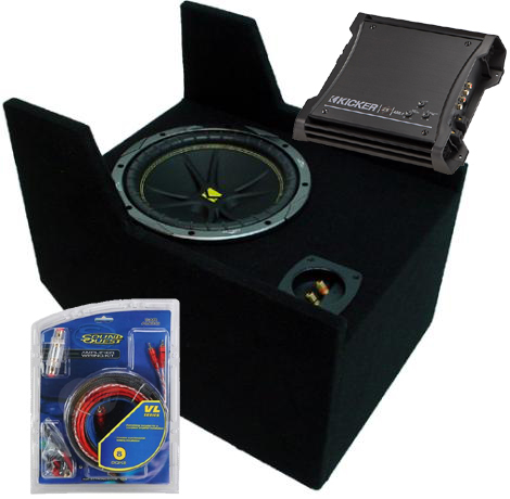 """Ford Ranger Extended Cab 10"""" C10 Loaded Kicker Subwoofer Box 83-09 ZX400.1"""