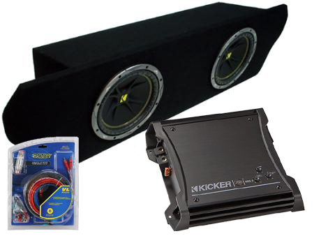 "Ford Mustang Coupe 94-04 Dual 10"" C10 Loaded Subwoofer Box Enclosure W/ ZX400.1 Amplifier"