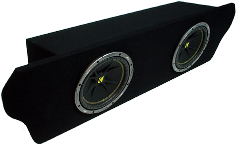 """Ford Mustang Coupe 94-04 Dual 12"""" C12 Sub Box Enclosure W/ ZX400.1 Amplifier"""