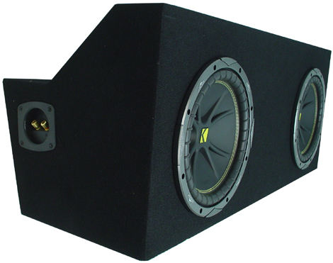 "Ford Mustang Coupe 05-08 Dual 10"" C10 Sub Box Enclosure W/ ZX400.1 Amplifier"