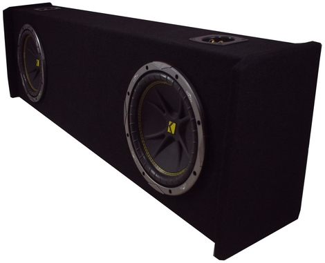 Ford 97-99 F150 Amplified Sub Box Loaded W/ Dual Comp 12 Kicker Subwoofers