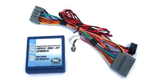 PAC NU-CHY2 Factory Navigation NAV Radio, DVD & Bluetooth Unlock Interface Harness for 2008-2013 Chrysler Town & Country