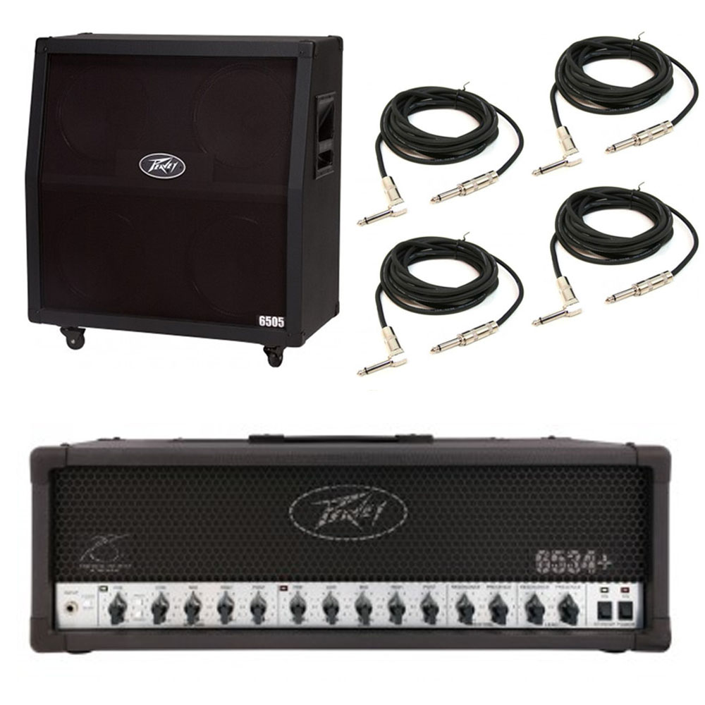 peavey 6505 412 slant cabinet 6534 plus amp head guitar package w cables 14367118353 ebay. Black Bedroom Furniture Sets. Home Design Ideas